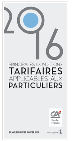 Tarifications particuliers 2016
