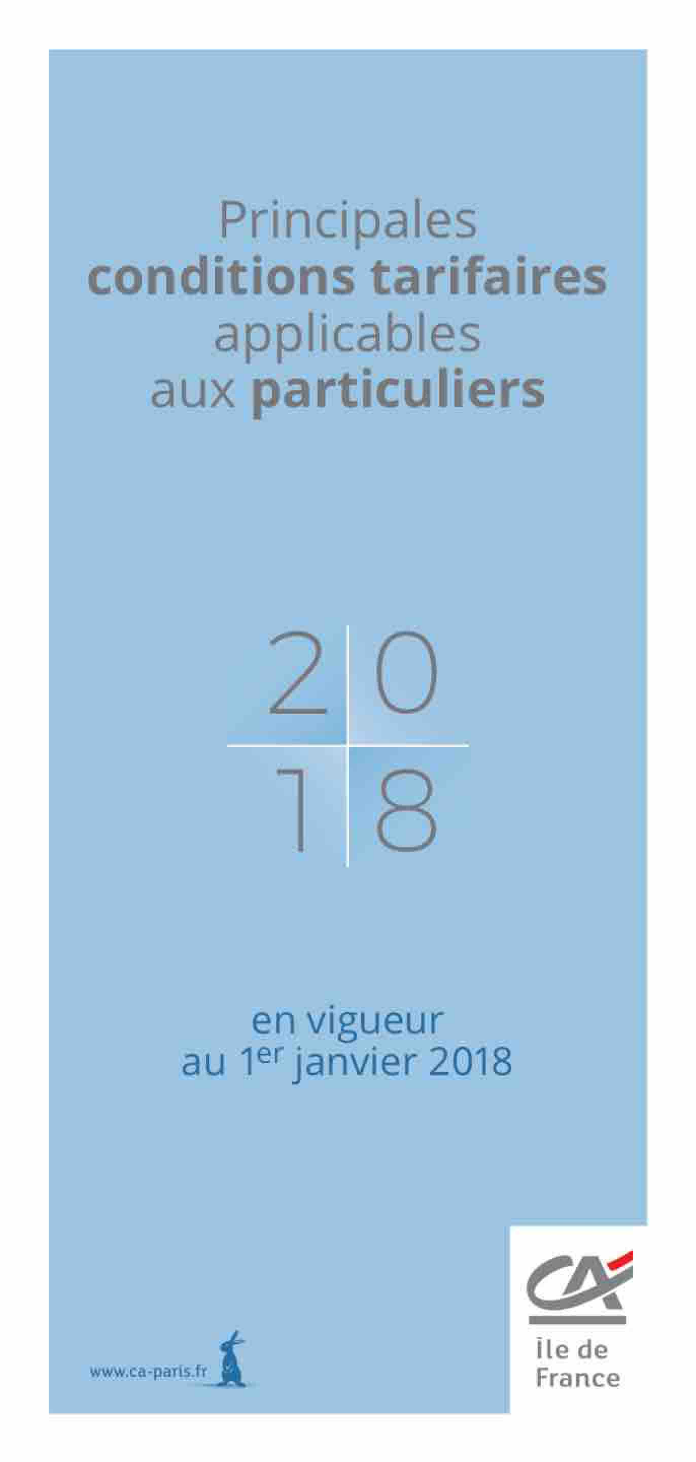 Tarifications particuliers 2018
